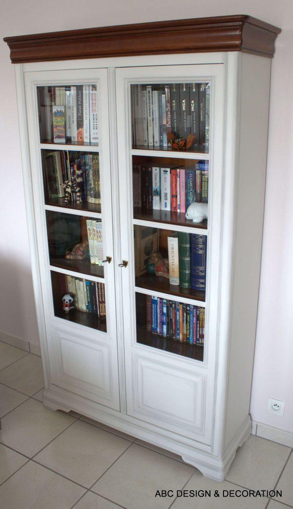 relooking biblioth que meuble tv abc design d coration. Black Bedroom Furniture Sets. Home Design Ideas
