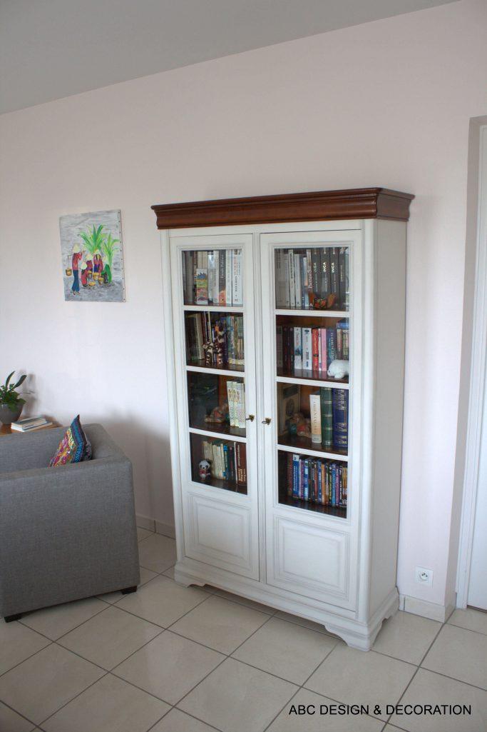 ABC Design & Décoration - Relooking bibliothèque meuble TV 05